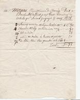 - YONNE - Commune De CHARNY : Facture De Mr.Moreau, Commissionaire à Mr Jourbault- 8mars 1834 - Sur Papier Parchemin - 1800 – 1899