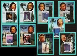 TUVALU 1986 - Centennial STATUE OF LIBERTY N.Y. / Presidents -  Compl. 9 Blocs Mi 19-27 No 421-429 MNH ** Cv€30,00 V954a - Tuvalu