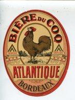 étiquette Bière Du Coq - Bière