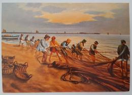 RIMINI D'ALTRI TEMPI - PESCA ALLA TRATTA - Fishing Fishermen  Nv - Rimini