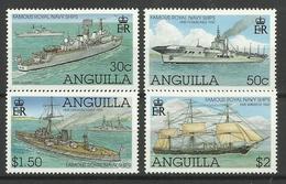 ANGUILLA 2002  FAMOUS ROYAL NAVY SHIPS SET MNH - Anguilla (1968-...)