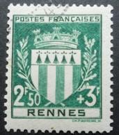 FRANCE Armoirie De Rennes N°534 Oblitéré - 1941-66 Wapenschilden