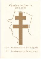 France. Diptyque Charles De Gaulle. 6 Timbres. 1971 Et 1980. - Guerre Mondiale (Seconde)