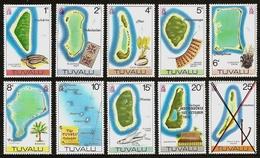 TUVALU 1976 - Freimarken: The Islands - SALE  9v Mi 23-31 MNH ** Cv€13,00 V830aa - Tuvalu