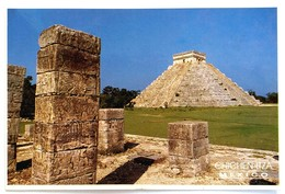 #7   Chichen Itza, Step Pyramid El Castillo (Temple Of Kukulcan) -  MEXICO, America - Used Postcard Stamp 1998? - Mexique