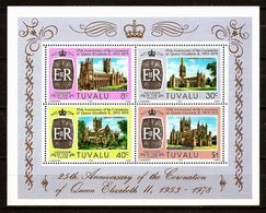 TUVALU 1978 - SILVER JUBILEE Coronation - Bloc 2 Mi 68-71 MNH ** Cv€2,00 V843 - Tuvalu