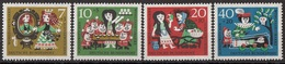 Germania 1962 Sc. B384/B387 Fairy Tale Favole Grimm Biancaneve Sette Nani - Full Set MNH Snow White Schneewittchen - Fiabe, Racconti Popolari & Leggende
