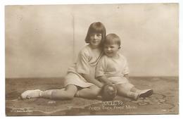 ROMANIA, OLD POSTCARD WITH AA. LL. RR. PRINTESA ILEANA , PRINTUL MIRCEA , 1919 . - Romania