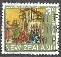 1974 3 Cents Christmas, Used - New Zealand