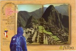 Lote PEP985, Colombia, 2014, Entero Postal, Postal Stationary, Filbo, Cafe, Machu Picchu, Coffee, Postcard - Colombia