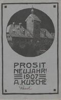 A. Kusche - Prosit Neujahr 1907! - Illustrateurs & Photographes