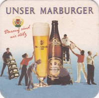 UNSER MARBURGER, DARANF SIND WIR STOLZ. CERVEZA BEER CIRCA 1900s POSAVASOS MAT - BLEUP - Bierviltjes