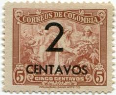 Lote 543, Colombia, 1944, Café Suave, Sobre Carga, 2c, Coffee Stamp - Colombia