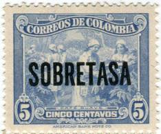 Lote MC37, Colombia, 1950, 5 C, Cafe Suave, Azul, SOBRETASA, Coffee Stamp - Colombia