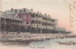 Nagasaki Japan, Hotel Nagasaki On Waterfront With Boats, Architecture C1900s Vintage Postcard - Japan
