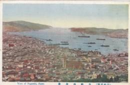 Nagasaki Japan, Panoramic View Of City And Harbor C1910s Vintage Postcard - Japan