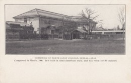 Sendai Japan, Dormitory Of North Japan College, C1900s Vintage Postcard - Japan
