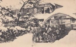 Japan, Morioka Kindergarten Class In The Snow, C1910s Vintage Postcard - Japan
