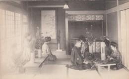 Japan, Koran Jogakko Flower Arrangement Lesson, Man And Women Fashion, C1900s Vintage Postcard - Japan