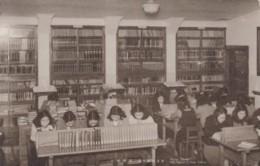 Japan, Miyagi Gakuin The English College Library Women Read Books, C1930s Vintage Postcard - Japan