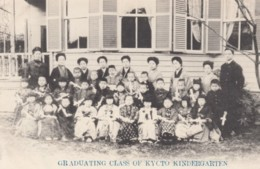 Kyoto Japan, Kindergarten Graduating Class Portrait, C1900s/10s Vintage Postcard - Kyoto