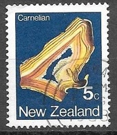 1982 5 Cents Carnelian, Used - Nouvelle-Zélande