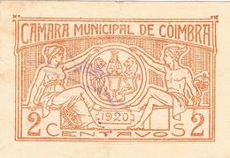 CÉDULA DA CÂMARA MUNICIPAL DE COIMBRA - 2 CENTAVOS. - Portugal