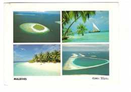 Maldives Male Atoll Carte 4 Vues + Timbre - Maldives