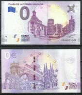 "2018-1. Billete Turístico 0 Euro Souvenir. Plaza De La Virgen Valencia ""España"" - EURO"