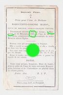 MORTROUX 1863 Marguerite Josephe Hardy  Veuve Vervier RARE - Décès