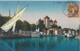 74 ANNECY ENTREE DU PORT LE LAC D'ANNECY CARTE COLORISEE EDITEUR LEVY ET NEURDEIN 11839 - Annecy