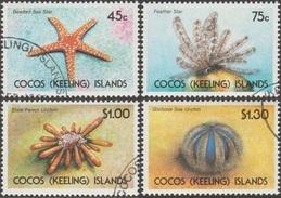Cocos 1991 Y&T 233/6 Michel 245/8. Faune Marine. Etoile De Mer,... Michel 9.50 € - Cocos (Keeling) Islands
