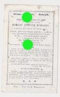 VISE 1871 Abbé Hubert Etienne BURGERS  Aumônier Des Soeurs De Notre Dame - Décès