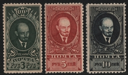 Russia / Sowjetunion 1928 - Mi-Nr. 358-360 A * - MH - Gez. 10 1/2 - Lenin (I) - 1923-1991 UdSSR