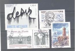 France Oblitérés : Pierre Schoendoerffer - N°5202 - 5221 & 5244 (cachet Rond) - France