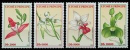 São Tomé & Príncipe 2002 - Mi-Nr. 1929-1932 ** - MNH - Orchideen / Orchids - Sao Tome Et Principe