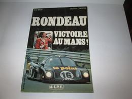 Livre  JEAN RONDEAU  VICTOIRE AU MANS  1980  100 Pages - Auto/Moto