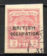 GEORGIE - BATOUM - (Occupation Britannique) - 1919 - N° 11 - 2 R. Rose - (Surchargé : BRITISH OCCUPATION) - Géorgie