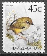 1991 45 Cents Rock Wren, Used - New Zealand