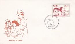 VACUNACION DERECHO DE CADA NIÑO-FDC 1987 LIMA, PERU - BLEUP - Medicine