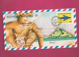 Aérogramme YT N° 10 De 1998 Pour La France - Oblitération De Teonemahina Pukapuka Tuamotu - Aerogrammes