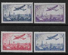 France - PA N°  9 à 12 * - Cote : 92 € - Airmail