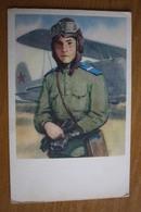 Young Pilot Near The Po-2 War Plane / Old Postcard 1968 - 1939-1945: 2. Weltkrieg