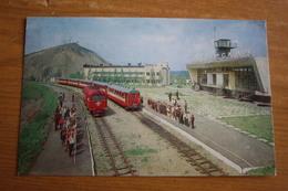 "Donetsk. ""Pionerskaya"" Station - TRAIN  - Old USSR Postcard - Trenes"