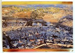 #9  JERUSALEM From Bird's Eye View - ISRAEL - Big Size Used Postcard - Israel