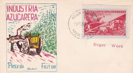 INDUSTRIA AZUCARERA.-FDC 1953 HABANA, CUBA - BLEUP - FDC