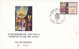 UNIVERSIDAD TECNICA PARTICULAR DE LOJA. 25 AÑOS-FDC 1996, ECUADOR - BLEUP - Equateur