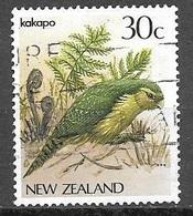 1986 30 Cents Bird, Kakapo Used - New Zealand