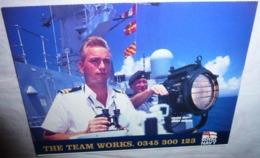 Carte Postale Double - Royal Navy (armée, Militaires) The Team Works - Publicidad