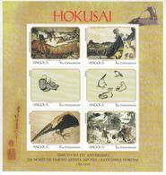 1999 Angola Hokusai Paintings Set Of 2 Miniature Sheets Of 6 MNH - Angola